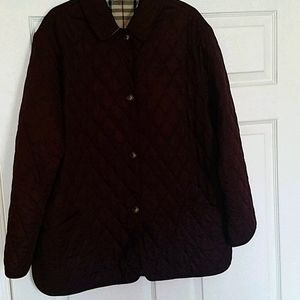 Burberry Quilted Jacket 1XL Wine